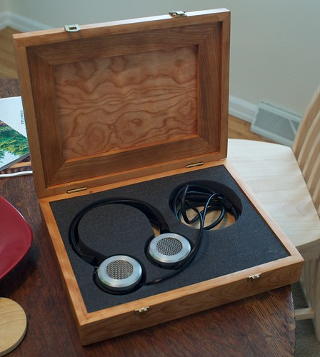 Cherry Box for Grado HF-1 Headphones