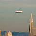 Zeppelin over San Francisco