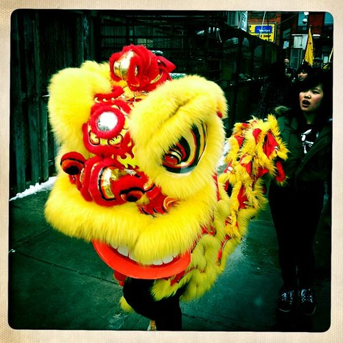 Lion Dance in Chinatown East