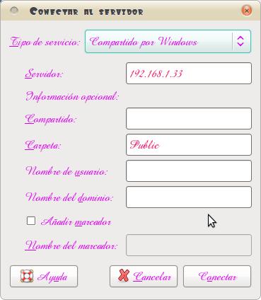 Pantallazo-Conectar al servidor
