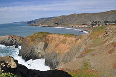 Marin Headlands (janetfo747) Tags: ocean california seascape weather coast day waves shadows pacific cloudy military marin sunny cliffs coastal bayarea geotag marinheadlands califorina mountans mygearandme mygearandmepremium mygearandmebronze