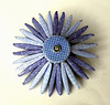 Blue Envelope Brooch
