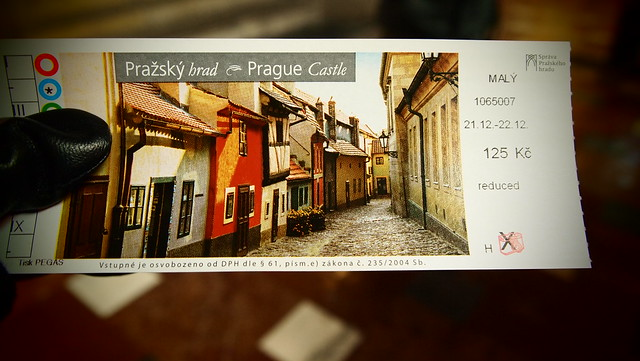 Ticket to St. Vitus Church, Prague, CZ