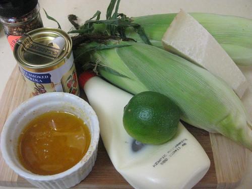 Grilled corn ingredients