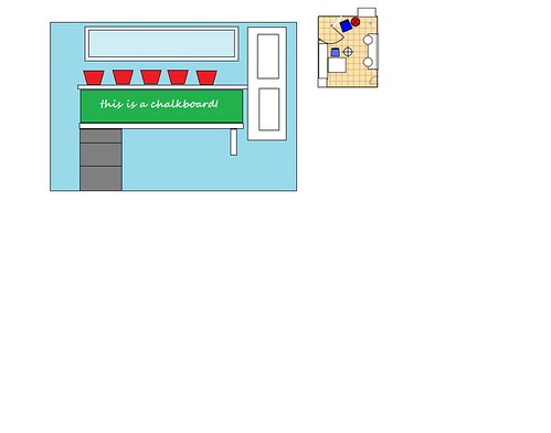 mspaint drawing of kids area in craft room