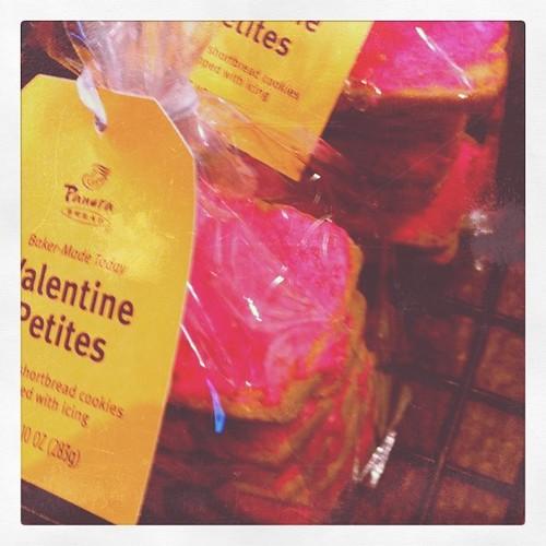 Heart cookies at Panera.