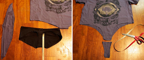 OutsaPop tutorial t-shirt bodysuit STEP 2