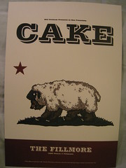 Cake @ Fillmore poster