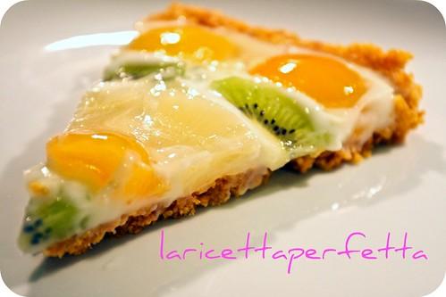 Crostata con corn flakes e frutta