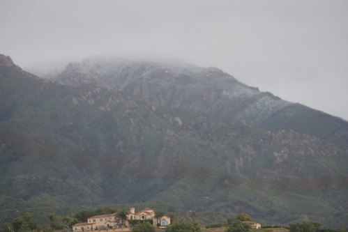Snow in San Marcos foothills