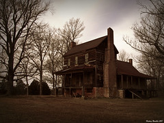 Weathered Diginity (History Rambler) Tags: old house brick abandoned home stone architecture rural rust south northcarolina historic southern porch plantation georgian weathered antebellum decayed tinroof flemishbond franklincounty englishbond oncewashome