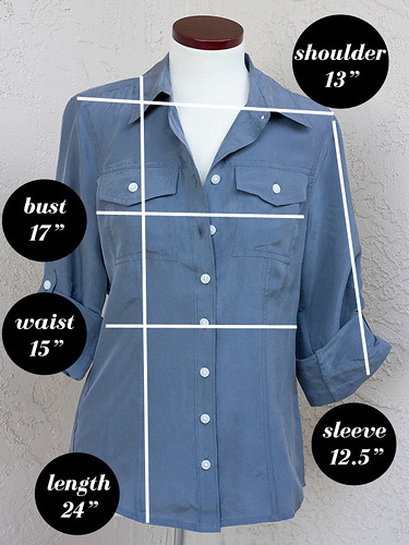 Banana-Republic-Silk-Blouse-Measurements
