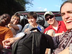 Cody Walker, Joel Dewald, Rose Byler, Peter Labosh, and Brandon Waggy en route to Antigua