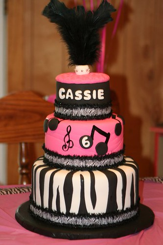 Whimsical Music Zebra Cake