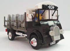 50's style Milk Churn Truck (bricktrix) Tags: truck lego railway lorry 50s flatbed milkchurn