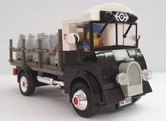 50's style Milk Churn Truck (bricktrix) Tags: truck lego railway lorry 50s flatbed milkchurn