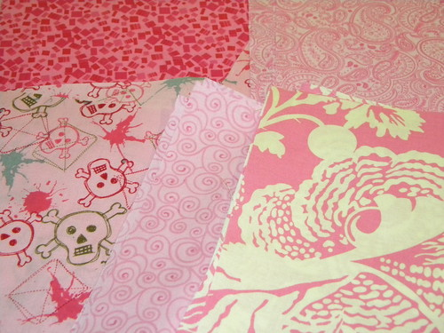 Pink Fabric for Pinkblack Quilt