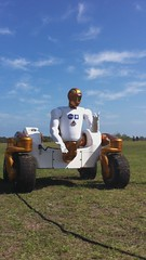 NASA's Robonaut 2 in rover configuration.