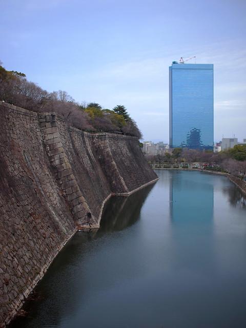 Reflection of Osaka Castle