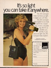 Now It Fits In Your Pocket... (glen.h) Tags: vintage video women australia 80s eighties 1980s advertisments jvc