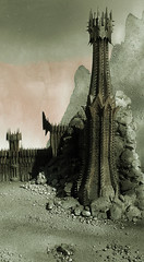 The Land of Shadow (Mtys Gbor) Tags: miniature lordoftherings sauron mordor morannon theblackgate gyrkura thelandosshadow