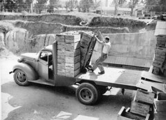 Unloading field boxes of citrus at the packing house (Orange County Archives) Tags: california history historical citrus southerncalifornia orangecounty yorbalinda orangecountyarchives orangecountyhistory yorbalindacitrusassociation