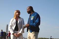 Stephanie Schierholz and Astronaut Leland Melvin