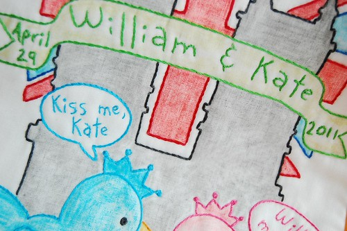Kiss me Kate - a William and Kate embroidery