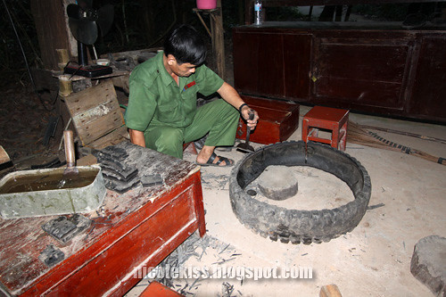 cutting tyres