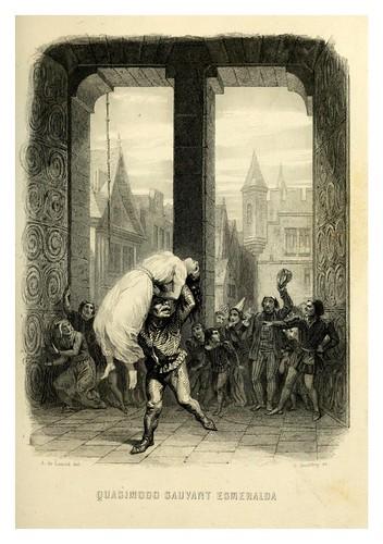 015-Quasimodo salvando a Esmeralda-Notre-Dame de Paris 1844- edicion Perrotin Garnier Frères