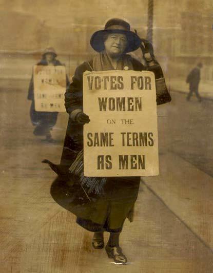 stephanie lotzmans interest in gaining suffrage for women