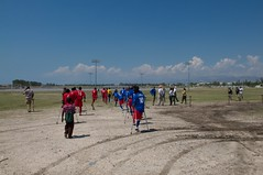Lining up for the game (JP Theberge) Tags: art haiti amputees challengedathletes