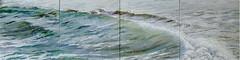 Long Wave (lizaart) Tags: blue sea green wave dailypainting lizahirst lizaart