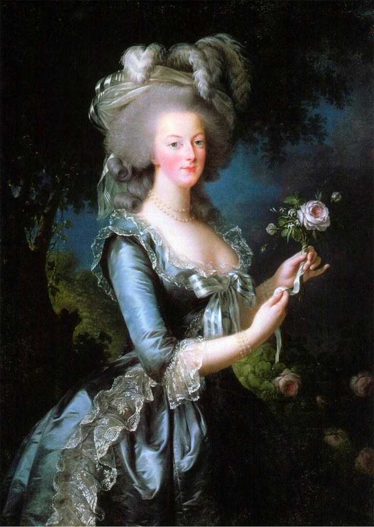 Marie Antoinette dit à la rose