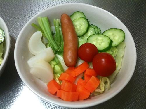 朝食サラダ(2011/3/9)