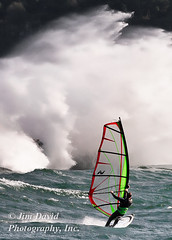 Windsurfer (jim_david) Tags: water oregon river columbiariver windsurfing washingtonstate columbiarivergorge windsurfers thehatchery