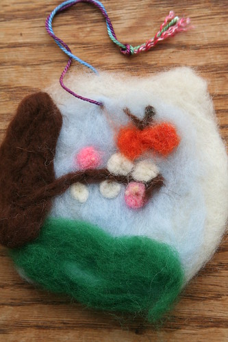 Lucas's Needle-Felted Picture: Butterfly