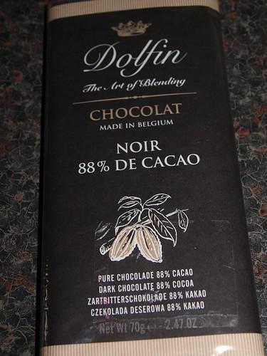 Dolfin 88% Cacao Chocolate Bar