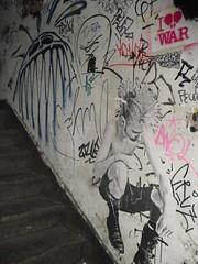 stairway stars! (nestdafoe) Tags: streetart pasteup poster graffiti sticker tags freiburg kts foe nestdafoe