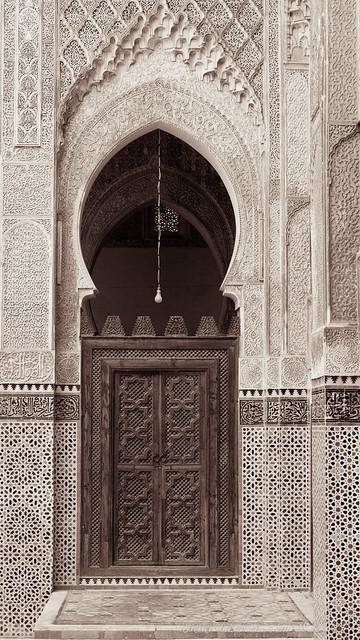 Doorway, Bou Inania Madrasa, Fez, Morocco, 2007