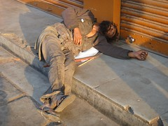 Homeless (Rajesh_India) Tags: poverty india abandoned homeless hyderabad secunderabad secunderabadstation