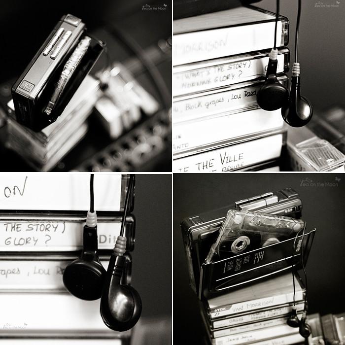 Mosaico cuadrado cintas cassette