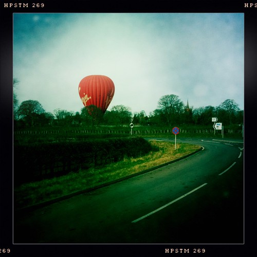 Balloon Landing at Kirk Deighton