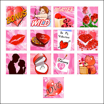free Cupid's Arrow slot game symbols