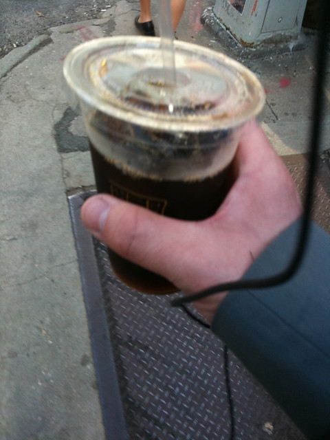 first ice coffee of the spring FTW #walkingtoworktoday
