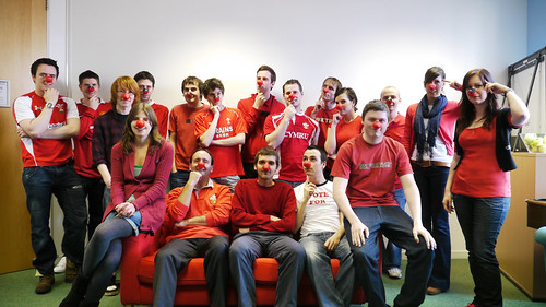 The ThinkBuzan Team on Red Nose Day