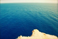 [91] Oh, how quiet, quiet the world can be .. (Violet Paradise (mostly off)) Tags: blue sea music nature water rock dark landscape big high scary jump waves quiet wind redsea hill wide egypt deep tranquility creepy huge therapy depth sharm sinai quietness metres nikond60