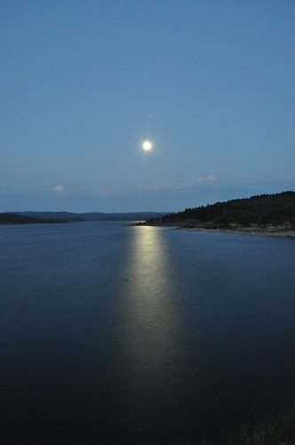 """SuperMoon"" over Cardinia Reservoir"