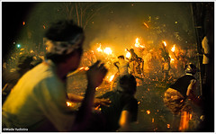 Muu Muu - Terteran - Fire War Ceremony (myudistira) Tags: bali heritage work fire war photographer traditional ceremony culture local pura api attraction freelance muumuu karang adat budaya balinese nyepi fotografer asem odalan unik perang karangasem yudis myudistira madeyudistira terteran yudist