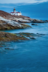 Beavertail Lighthouse at Dusk (chris lazzery) Tags: longexposure sunset twilight dusk rhodeisland jamestown beavertailstatepark beavertaillighthouse canonef24105mmf4l 5dmarkii